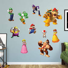 Amazon Com Fathead Super Mario Characters Collection Giant Officially Licensed Nintendo Removable Wall Decal Home Kitchen