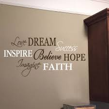 Love Dream Success Word Collage Vinyl Wall Decal Inspire Believe Hope Imagine Faith Living Room Entry Way Vinyl Wall Decal Word Cloud Hh2172