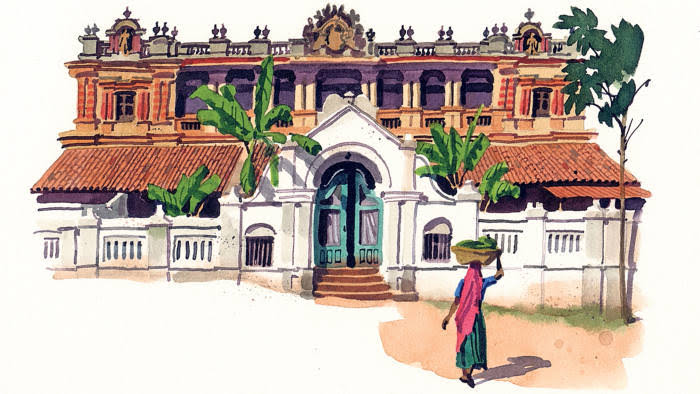 Image result for Chettinad Towns and Villages hd""