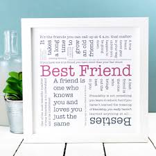 gift for friend best friend quotes print by coulson macleod