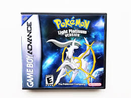 Pokemon Light Platinum Version Custom Case Nintendo