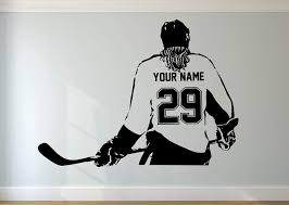 Amazon Com Personalized Hockey Girl Wall Decal Choose Your Name Numbers Custom Player Vinyl Decal Sticker Decor Kids Room Decor Handmade