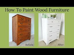how to paint wood furniture you