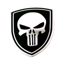 Rhino Tuning 20pc Wholesales The Punisher Car Badge Aluminum Auto Styling Sticker Skull Emblem For 986 980 7l5601149e 20595 Buy At The Price Of 26 89 In Aliexpress Com Imall Com