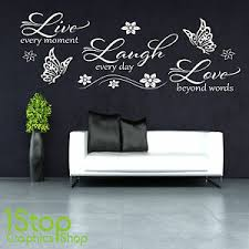 Live Laugh Love Wall Sticker Bedroom Lounge Wall Art Decal X365 Ebay