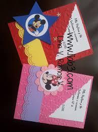 Mickey Minnie 06 Invitaciones Mickey Invitaciones Hechas A
