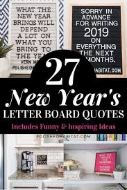 new year s letter board quotes polished habitat
