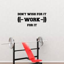 Don T Wish For It Work For It Wall Quote Decal Sticker Walmart Com Walmart Com