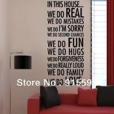 in this house we do love family quotes vinyl wall decals removable