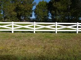 Cross Buck Post And Rail Vinyl Horse Fence