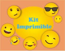 Emoji Smile Emoticokit Imprimibles Cumpleanos Personalizados