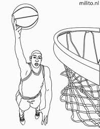 Kleurplaat Basketbal De Mooiste Kleurplaten Milito Nl