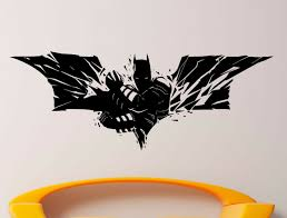 Batman Logo Wall Vinyl Decal Comics Superhero Sticker Removable Decor 3jbat For Sale Online Ebay