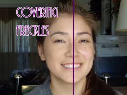 how to cover up freckles you