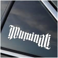 Illuminati Vinyl Decal Stick Emall Vinyl Decals