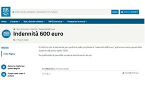 Rassicurazioni INPS bonus 600 euro: non c'è fretta, sito bloccato ...