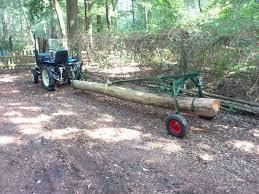 built an atv log skidder today pics