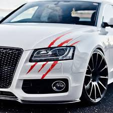 Dsycar 1pcs Car Monster Sticker Scratch Stripe Claw Marks Car Auto Headlight Decal Car Styling White Red Black New Buy At The Price Of 2 07 In Aliexpress Com Imall Com