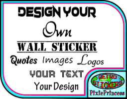 personalised wall sticker custom stickers vinyl decal design your