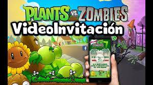 Video Invitacion Plantas Vs Zombies Youtube