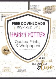 marvelously magical harry potter quotes printable decor