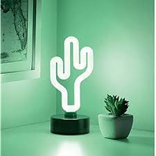 Koicaxy Cactus Light Led Cactus Lamp Up Decor For Kids Bedroom Living Room Wall Party Holiday