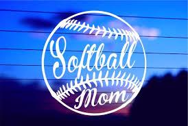 Softball Mom Car Decal Sticker