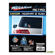 Mega Man Rush 8 Bit Retro Decal Car Sticker Wall Palz