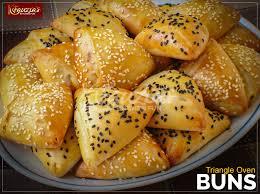 triangle oven buns fauzia s kitchen fun
