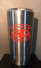 Auburn Tigers Decal For Your Yeti Rambler Tumbler Coldster Sticker Laptop Yeti Rambler Tumblers Yeti Rambler Yeti Cup Designs