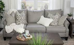 a neutral but modern living room