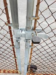 Dac Industries Chain Link Fence Strong Arm Latches For Double Gates Hoover Fence Co