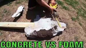 No Concrete Fence Post Is Foam Better Youtube