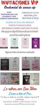 Imprenta Graficales Impresion Offset Y Digital Invitaciones De 15 Pase Vip Cumpleanos Super Originales