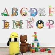 Animal Alphabet Wall Decals Dezign With A Z