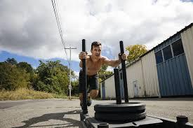 burn fat by using sled training