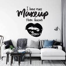Lady Girls Room Wall Decor Posters Stickers Makeup Art Vinyl Wall Decals Beauty Shop Sign Creative Decal Mural Home Decor A563 Wall Stickers Aliexpress