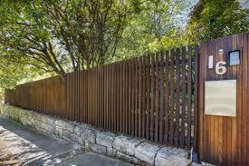 Timber Batten Front Entry Fence Formed Gardens Fence Design Brick Fence Backyard Fences