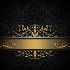 Black And Gold Decorative Background Sticker Wall Decals Eleonora 77
