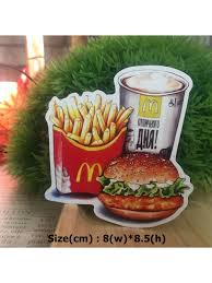 Fast Food Set Mcdonald Hipster Graphic Art Waterproof Vinyl Decal Sticker Skullangel Unique Handmade Clothing Embroidered Patches Waterproof Stickers For Diy Projects
