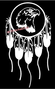 Vinyl Decal Dream Catcher Eagle Head Dreamcatcher Luck Native Etsy