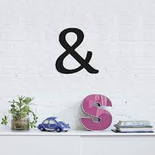 Amazon Com Cuyie Quotes Wall Stickers Removable Vinyl Art Decal Ampersand Sign For Bedroom Living Room Home Kitchen