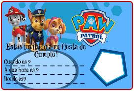 Invitacion De Cumple Invitacion Cumpleanos Patrulla Canina