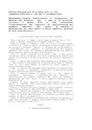 Decreto ministeriale 24 ottobre 2001, n