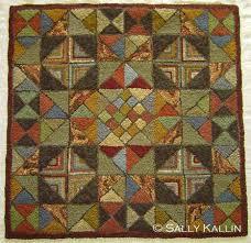 geometric rug hooking designs by sally