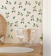 Botanical Decor Green Leaf Wall Decal Modern Decal Leaves Etsy
