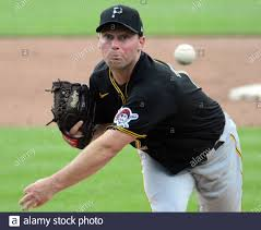 Pittsburgh, United States. 10th July, 2020. Pittsburgh Pirates pitcher Robbie  Erlin throws during a practice game at summer workouts at PNC Park in  Pittsburgh on Friday, July 10, 2020. Major League Baseball
