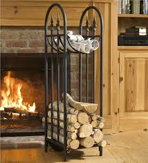 hearthside finial log rack wood rack
