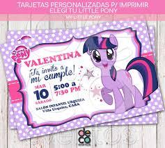 Tarjeta Invitacion Cumpleanos My Little Pony P Imprimir 250