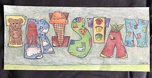 Tristan Name Art Handmade Original Wall Decor For Baby Nursery Or Kids Room Ebay